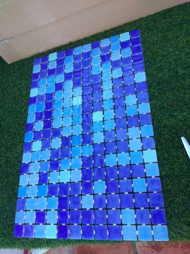 Azulejo Gresite azul