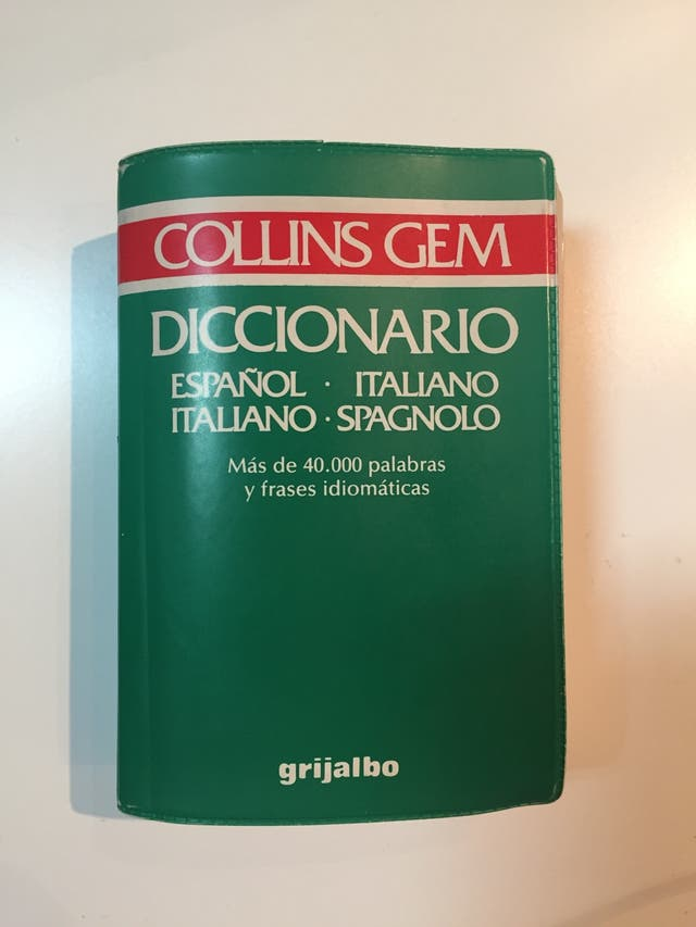 Diccionario Bolsillo Libro Italiano Español De Segunda