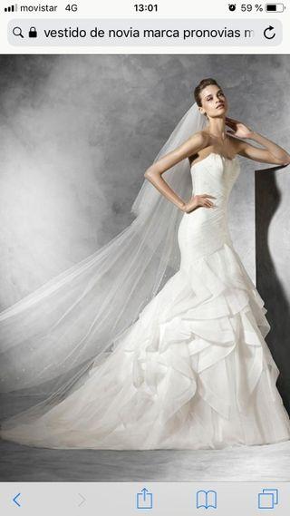 vestido de novia pronovias de segunda mano en wallapop