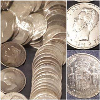 5 pesetas de plata