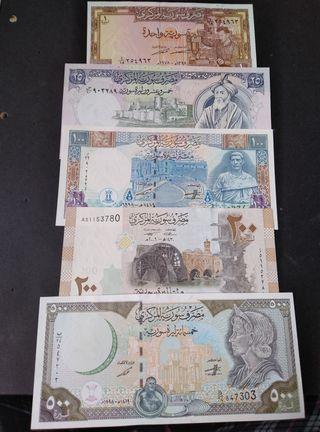 Lote billetes de Syria. SC.