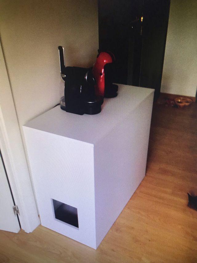 Mueble arenero gatos