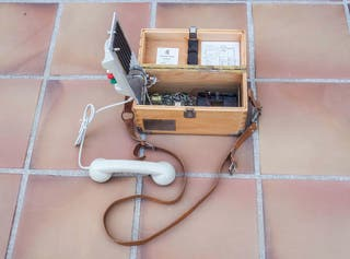 teléfono pruebas líneas telefónicas antiguo
