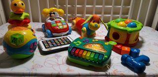 Gran lote de juguetes interactivos educativos bebe