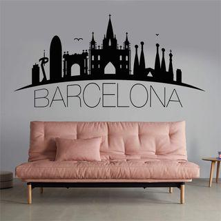 Vinilo decorativo de Barcelona.