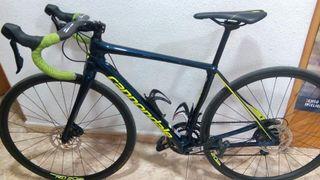 bicicleta de carbono cannondale frenos de disco nu