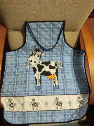 Delantal de vaca nuevo+2 manoplas