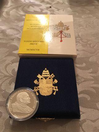 Estuche moneda del Vaticano 500 liras