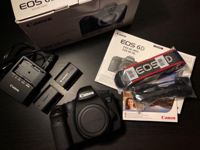 Canon 6D camara fullframe solo cuerpo y accesorios