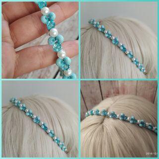 Preciosa tiara hecha a mano por encargo Nueva !