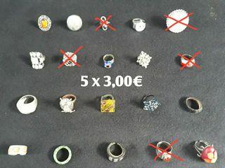 5 Anillos por 3,00 €