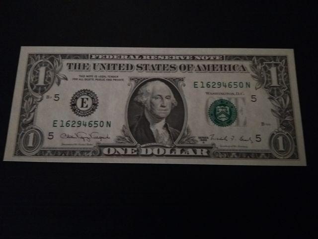 Billete de 1 dolar americano