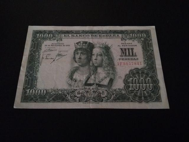 Billete 1000 pesetas de 1957