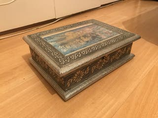 Indian silver box with compartments