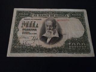 Billete de 1000 pesetas año 1951