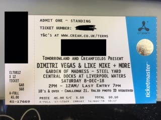 Dimitri Vegas & Like Mike Garden of Madness ticket