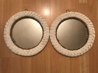 Shell hanging mirrors
