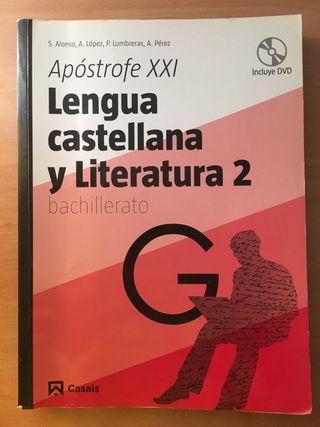 Libro de Lengua y Literatura 2 BTO. ed. Casals