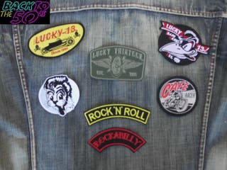 parches rockabilly lucky 13 cafe racer stray cats