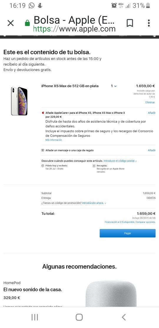 Vendo ,iPhone xs max 512 gb