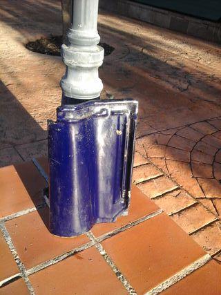 222 tejas vitrificadas mixtas azul cobalto