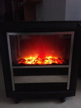 estufa eléctrica símil a chimenea