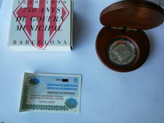 Moneda de plata GOBIERNO DE BARCELONA