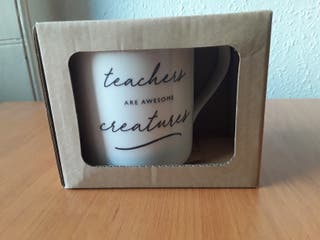"""Teachers are awesome creatures"" mug"