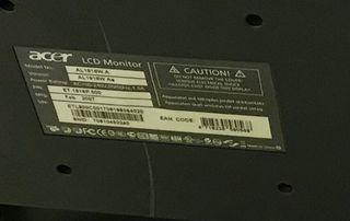 Pantalla acer ordenador