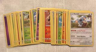 Lote 45 cartas Pokemon - Sol y luna