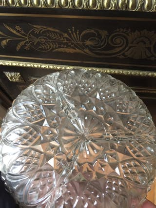 Cristal antiguo plato decorativo antiguo