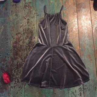 Velvet silver dress