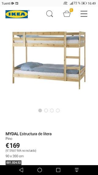 Cama Litera Ikea De Segunda Mano En Madrid En Wallapop