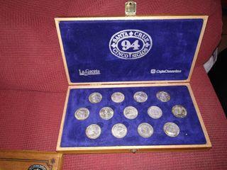 Arras 5 centenario + Monedas heráldicas