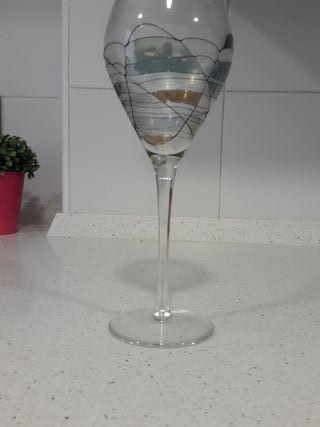 Copas vino decoradas a mano