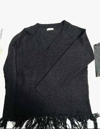 jersey negro flecos
