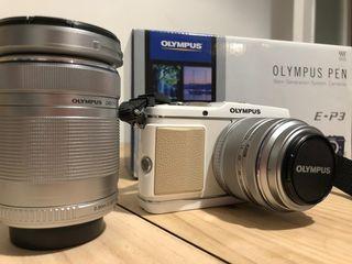 Olympus E-P3 con objetivos