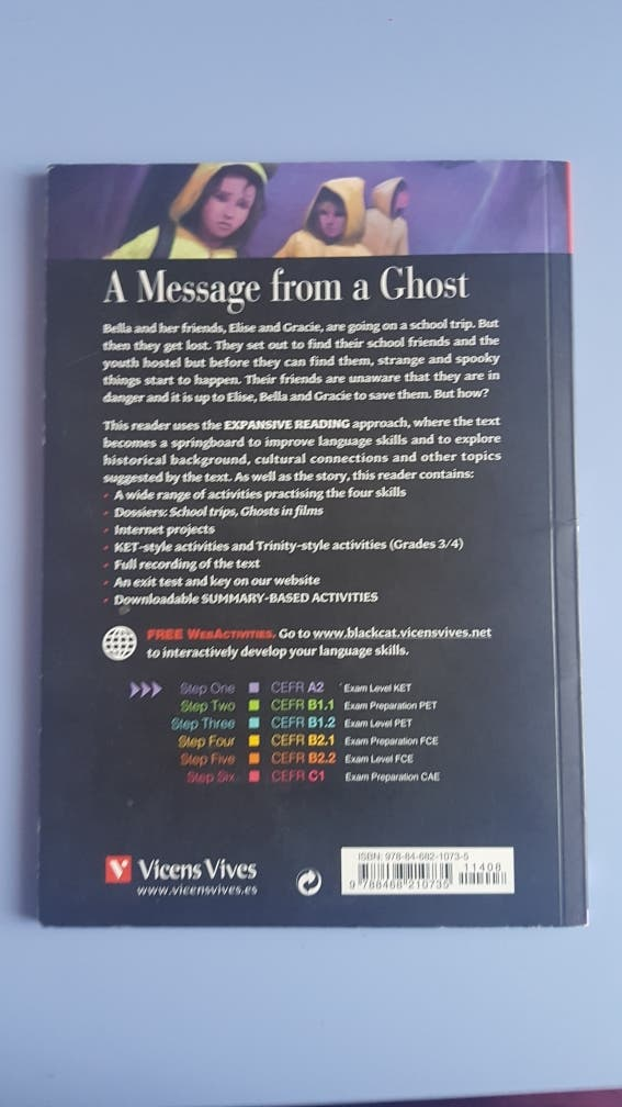 "Libro "" A Message from a Ghost"""