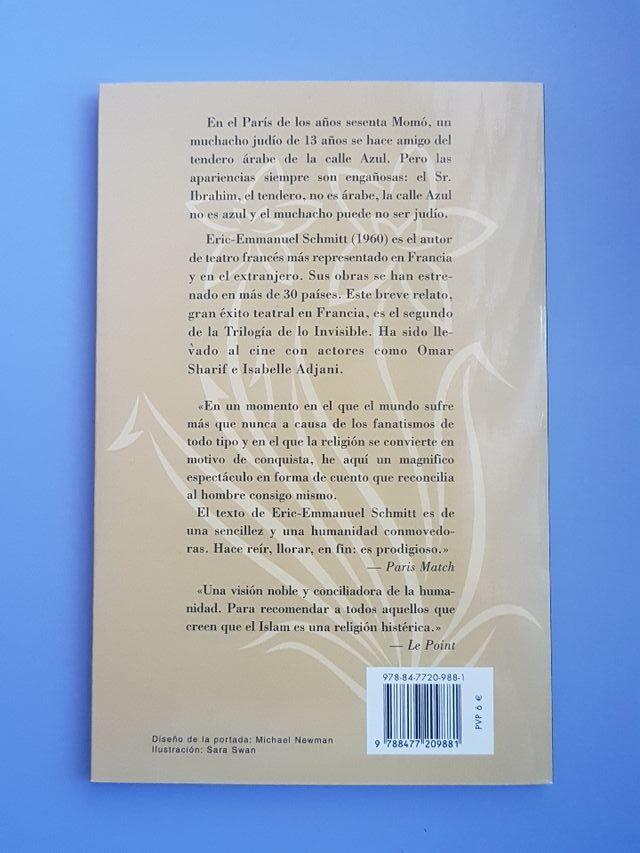 """Libro """" El señor Ibrahim y las flores del Corán"""""""