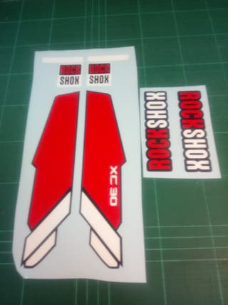 kit pegatinas rock shox xc 30