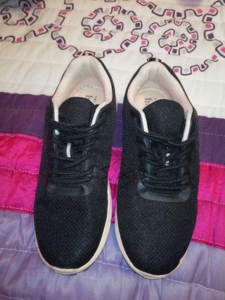 Zapatillas mujer de tela