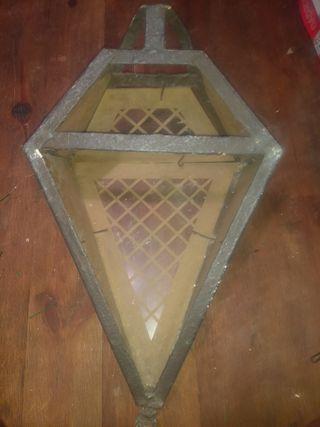 Farol hierro y cristal