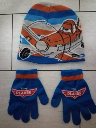 gorro + guantes planet disney