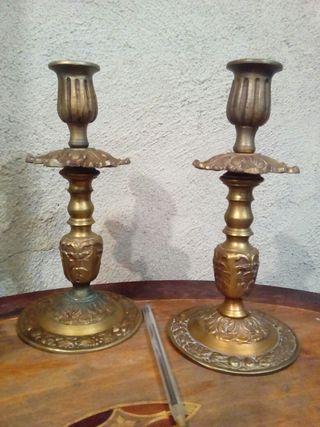 candelabros de iglesia siglo XIX