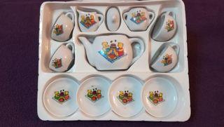 juego de té porcelana miniaturas
