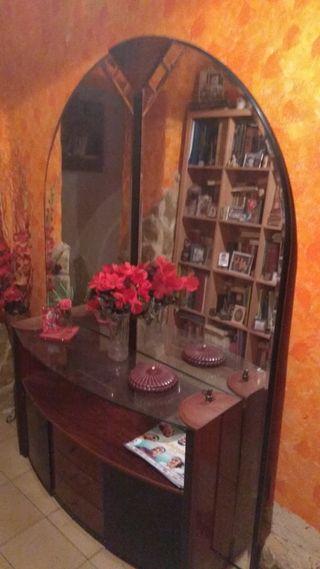 mueble cristalera espejo