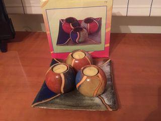 Centro de mesa de cerámica
