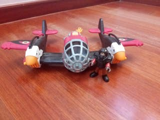 avion imaginext mas muñeco