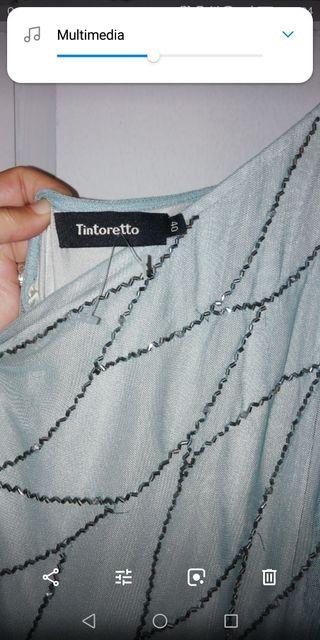 Vestido Joya, corte griego. Tintoretto. Talla 40