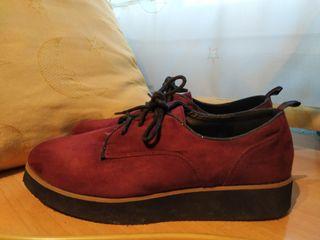 Zapatos granate mujer